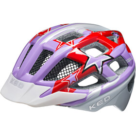KED Kailu Helmet Kids Purple Red Stars